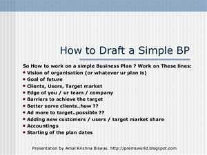 simple business plan very simple business plan template With very simple business plan template