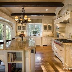 colonial kitchen design ideas 开放式厨房吧台装修效果图 设计本 5531
