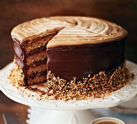 hazelnut latte cake recipe bbc good food