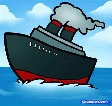 Ferry Boat Drawing Easy by How To Draw A Ship Easy Step By Step Boats