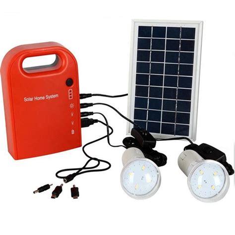 portable large capacity solar power bank panel 2 led l