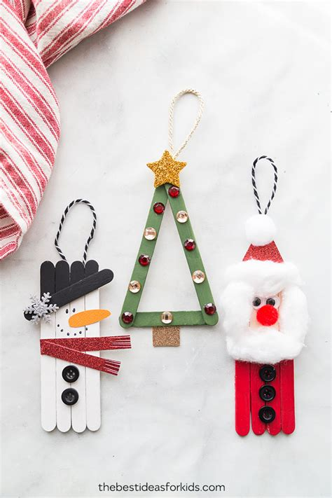 popsicle stick christmas crafts   ideas  kids