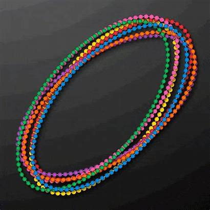 Gras Mardi Necklace Bead Round Opaque Pack