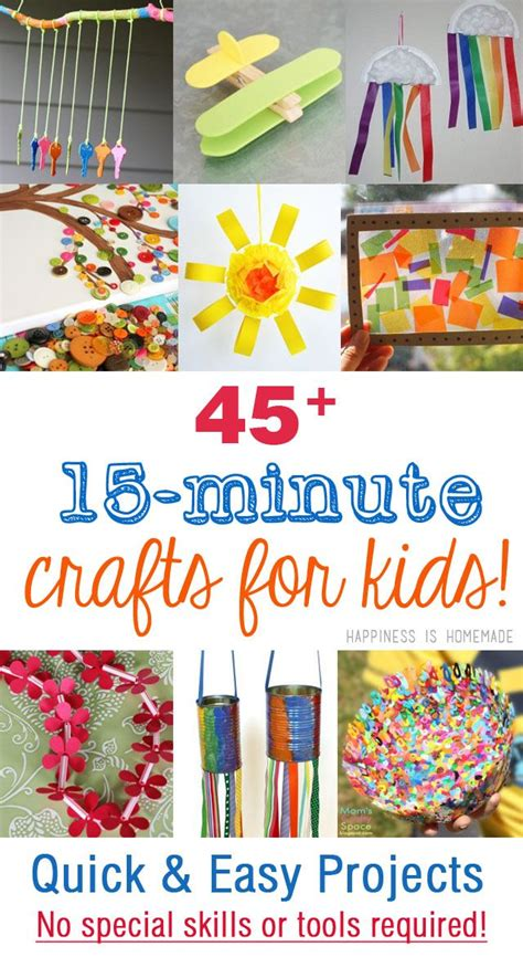 quick  easy  minute kids crafts  require