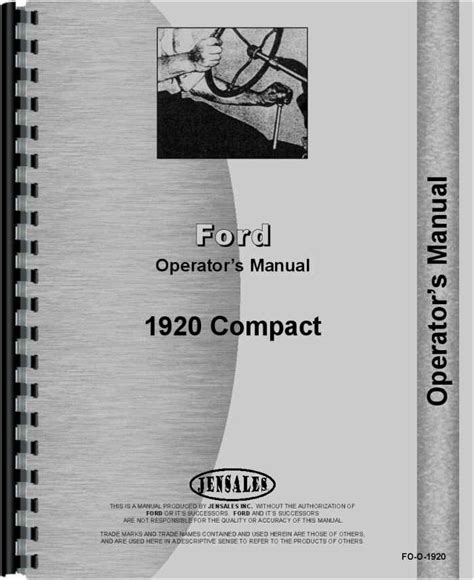 ford  tractor operators manual