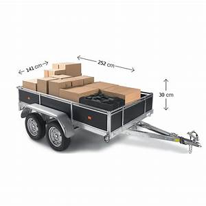 Remorque bois 2 essieux 750 Kg : Norauto fr