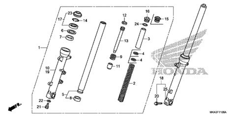 chassis parts for nc750x 2017 honda parts