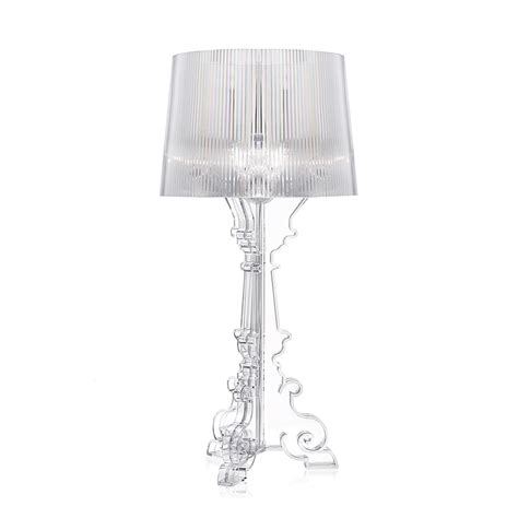 lampe bourgie kartell by ferruccio laviani transparent or noir