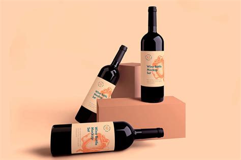Showcase your designs in these blank mockups that are easy to edit. Free Wine Bottle Mockup Set | Mockuptree