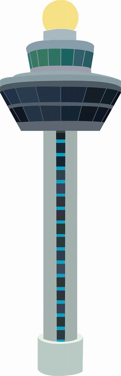 Airport Tower Control Air Traffic Clipart Singapore
