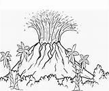 Volcano Coloring sketch template