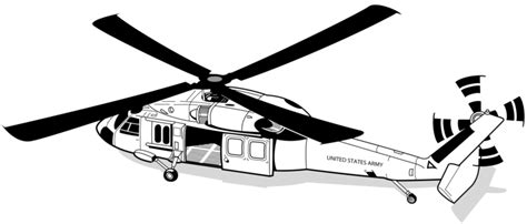 Blackhawk Helicopter Clipart Collection