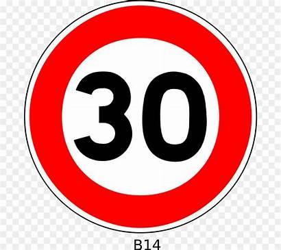 Sign Speed Limit Km Zone Traffic Cartoon