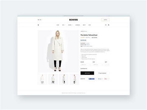 bonfire  ecommerce product page template freebiesbug