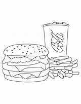 Burger Coloring Fries Cola Junk King Trio Template Colouring Colornimbus Cartoon Kawaii Comic Pusheen Fai Te sketch template