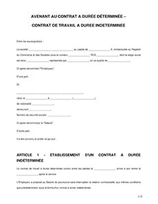 Modification Du Temps De Travail by Avenant Au Contrat De Travail Mod 232 Le D Avenant Legalplace
