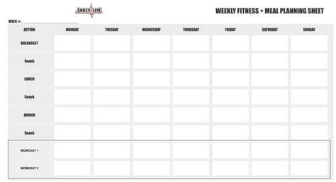Weekly Fitness Plan Template by Adrenaline 12 Week Competition Fitness And Nutrition
