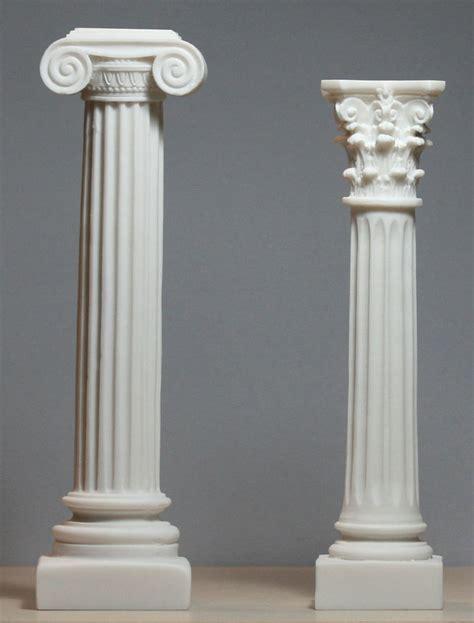 Column Pedestal by Set 2 Columns Ionic Corinthian Style Pillar