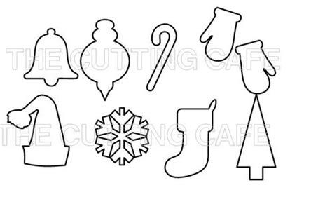 printable christmas ornament shapes printable cutouts