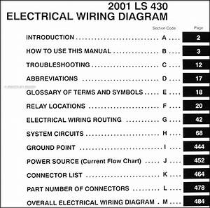 2001 Lexus Ls 430 Wiring Diagram Manual Original