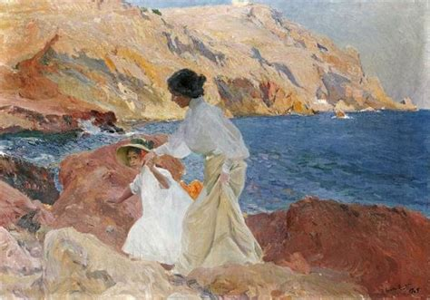 Joaquin Sorolla y Bastida - Clotilde and Elena On The