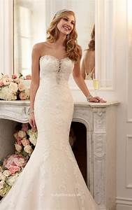 Strapless Sweetheart Neckline Beaded Lace Mermaid Wedding ...