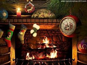 Free Christmas Wallpapers and Screensavers of Fireplace ...