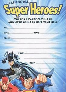 Free 1st Birthday Invitation 10 Party Invitations Justice League Superman Batman The