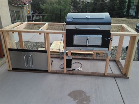 build your own bbq island outdoor kitchen it s started i took apart the charcoal grill and its 9774