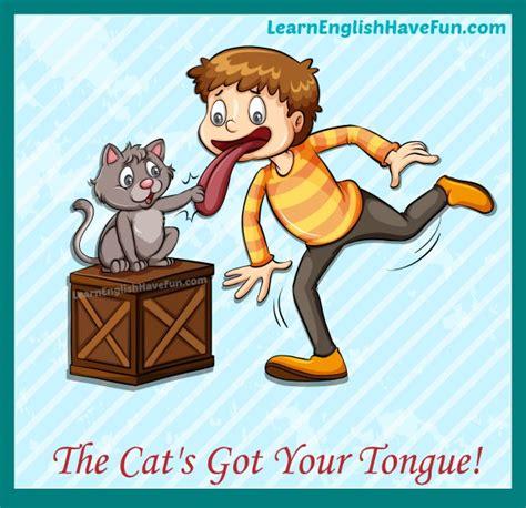 cat   tongue idiom