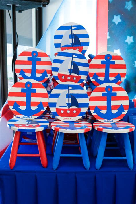 nautical themed birthday party  charming day