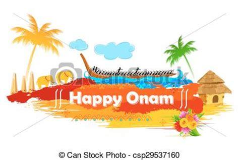 Onam Boat Icon by Clip Art Vector Of Boat Race Of Kerla On Onam