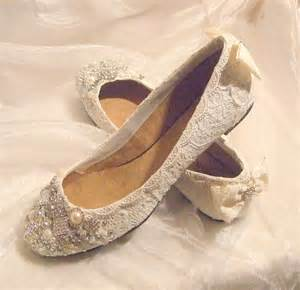 newly designed collection of pearl lace flat wedding shoes for bridals trendyoutlook - Wedding Flat Shoes