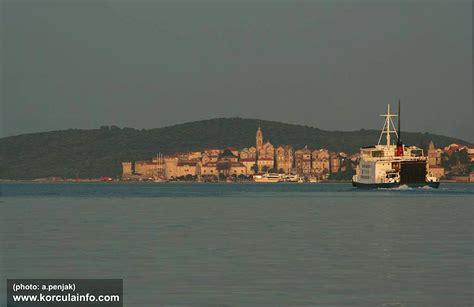 Ferry Boat Orebic Korcula by Ferry Drvenik Near Makarska Korcula Drvenik Ferries