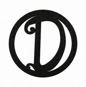 embossed black felt monogram letter d With felt monogram letters
