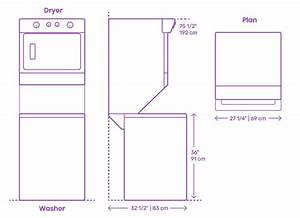 Clothes Washer Dimensions Chart Whirlpool Stacked Laundry Center Dimensions Drawings