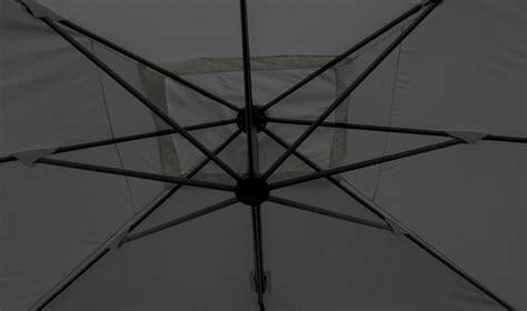 parasol deporte carre gris 3 x 3 m parasol excentr gris