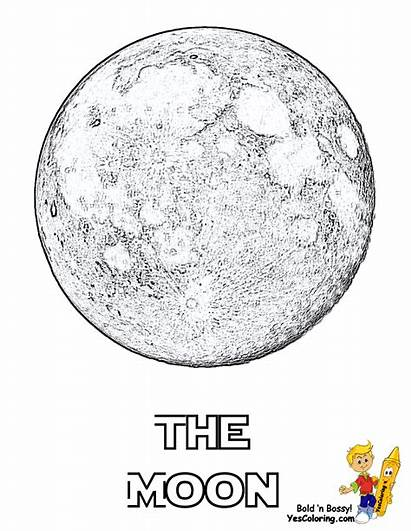 Moon Coloring Pages Space Yescoloring Blood Nasa
