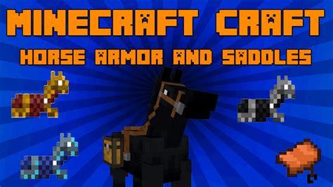 minecraft horse craft mod armor saddles