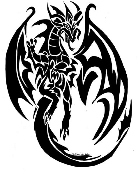 latest tribal dragon tattoos designs