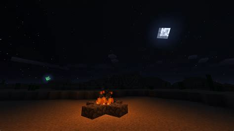 I added an extra planet to the night sky texture : Minecraft