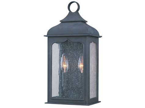 troy lighting henry colonial iron two light outdoor