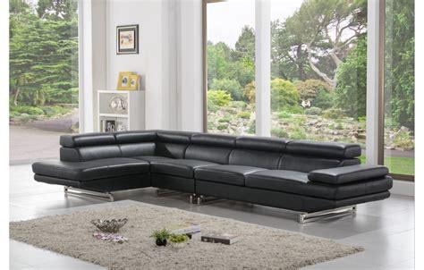 canape d angle en cuir noir home salon canapé angle