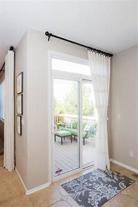window treatment ways for sliding glass doors theydesign With kitchen curtain ideas sliding glass door