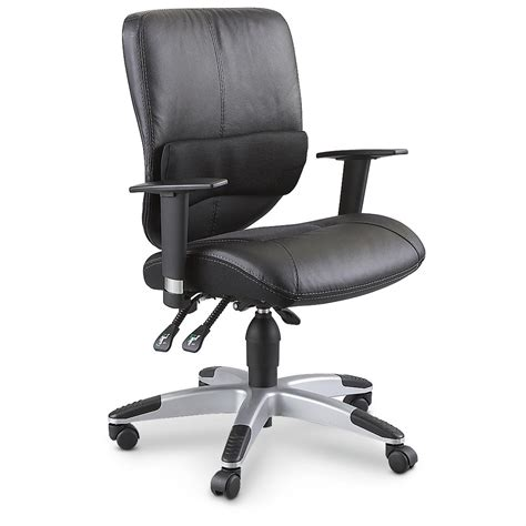 sealy posturepedic 174 leather office chair black 183979