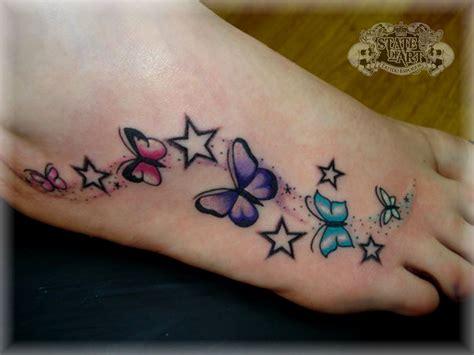 cute butterfly foot tattoo design ideas  girls