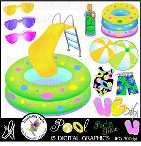 Swimming Pool Party Clipart