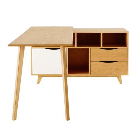 bureau d angle pivotant bureau d 39 angle 1 porte 2 tiroirs poppins seea dacosta