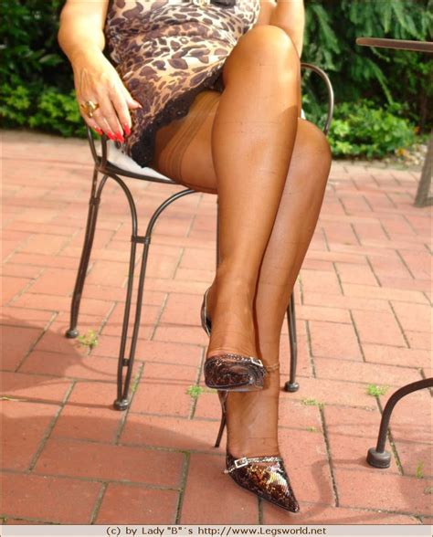 Leggy Lady Barbara In Brown Stockings And High Heels Porn