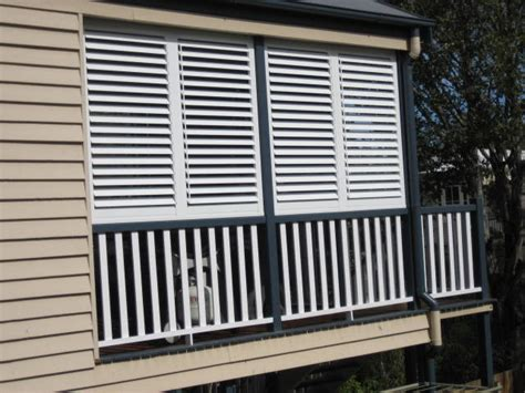 stylish privacy with aluminum shutters traditional
